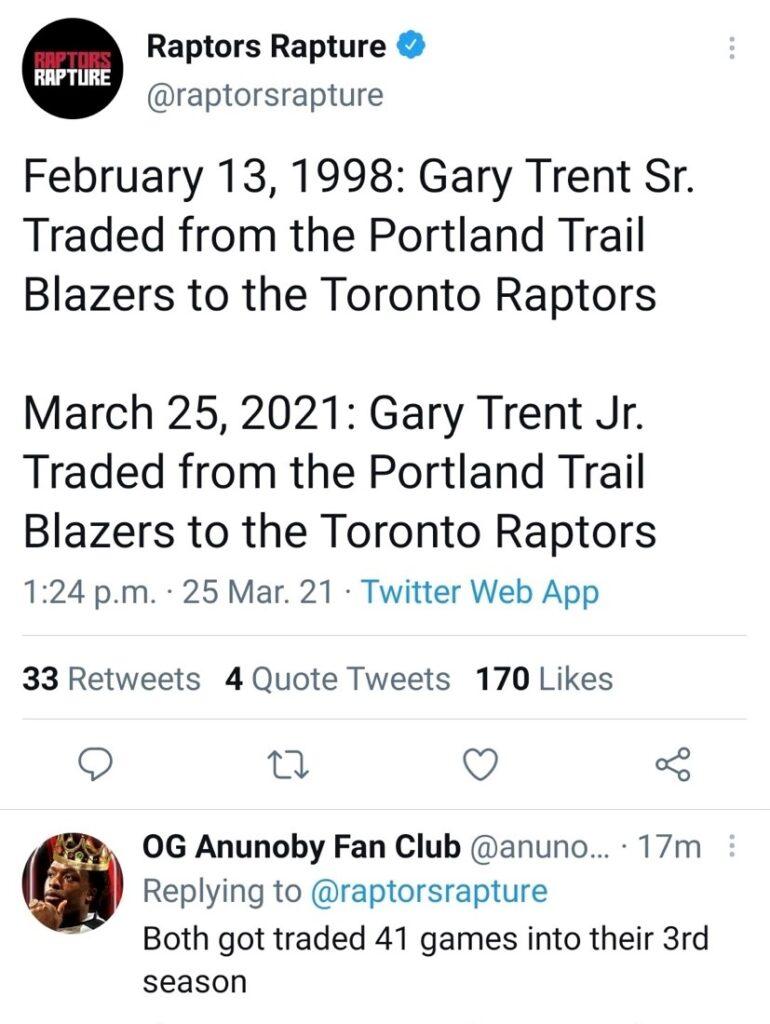 Raptors 2021 Trade
