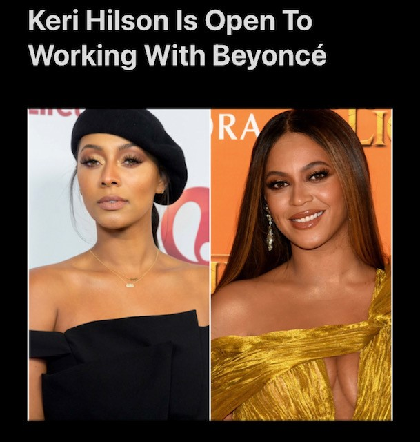 Keri Hilson Is Open To Working With Beyoncé