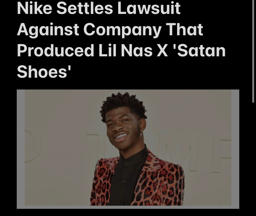 Nike Settles Lawsuit Against Company That Produced Lil Nas X 'Satan Shoes'