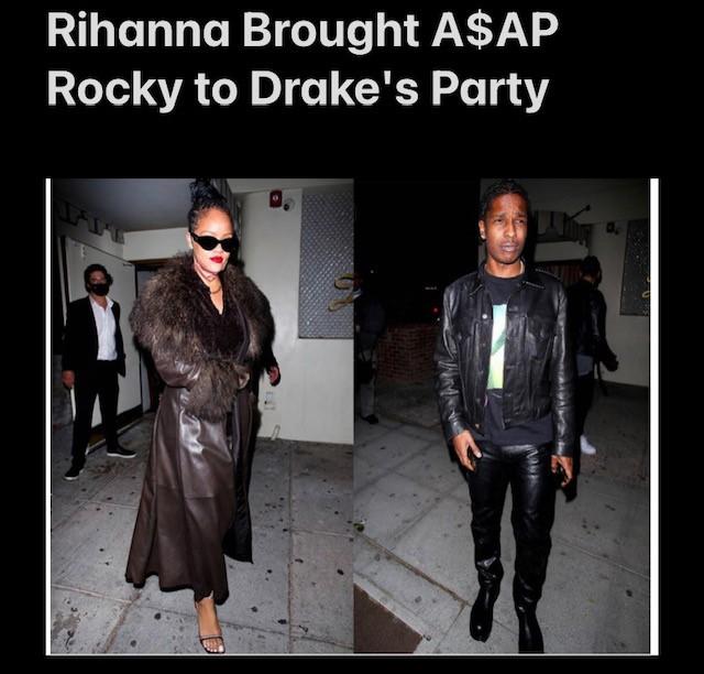 Rihanna & A$AP Rocky At Drake's Party?