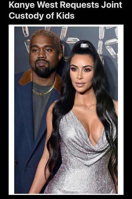 Kanye West Requests Joint Custody of Kids