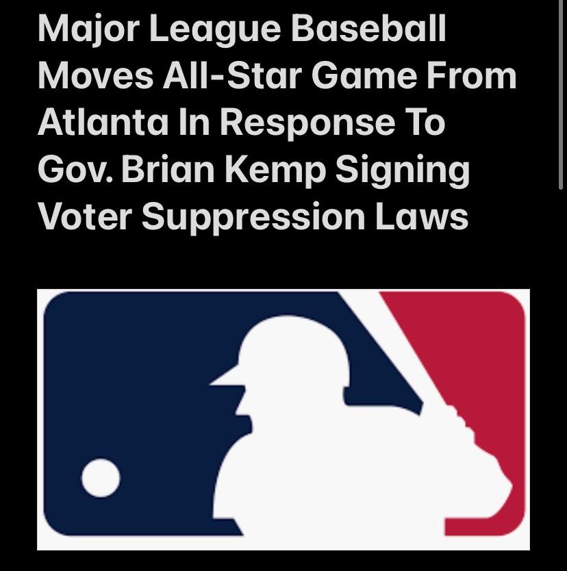 MLB Moves All-Star Game From Atlanta