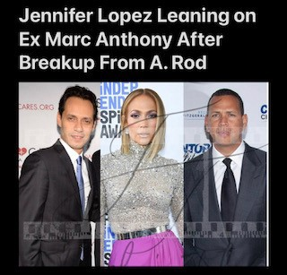 Jennifer Lopez Leaning on Ex Marc Anthony After Breakup From A. Rod