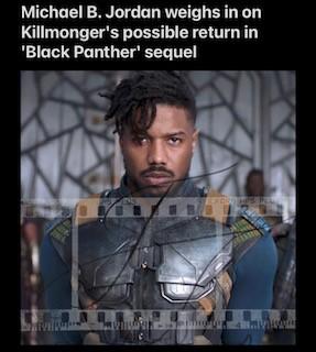Michael B Jordan weighs in on Possible Return From Killmonger