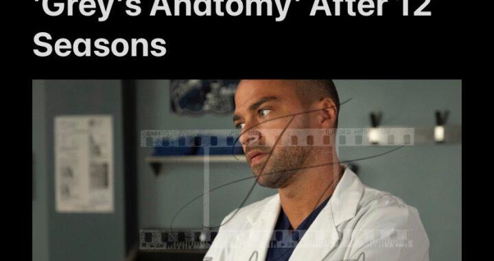 Jesse Williams Leaving Grey's Anatomy