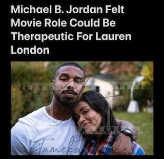 Michael B Jordan New Movie Role Seems Therapeutic For Lauren London