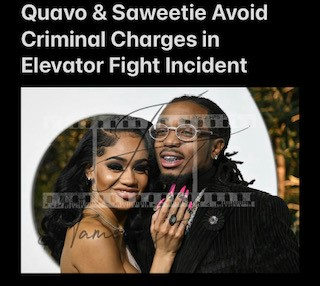 Quavo & Saweetie Avoid Criminal Charges in Elevator Fight Incident