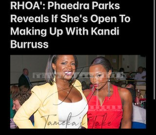 RHOA Phaedra Parks Open To Making Up With Kandi Burruss