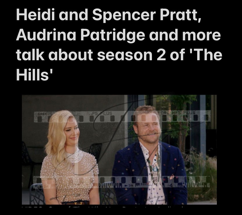 Heidi & Spencer Pratt, Audrina Patridge talk about season 2 of The Hills