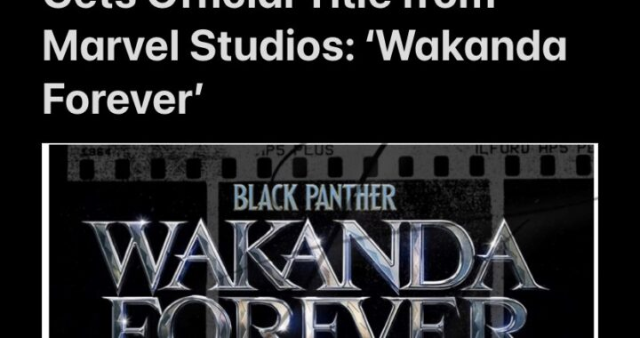 Black Panther Sequel Gets Official Title from Marvel Studios