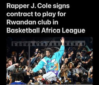 Rapper J Cole Signs Contract To Play For Rwandan Basketball Club